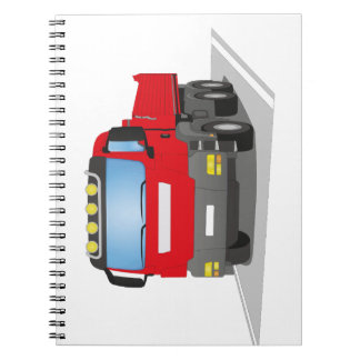 red building sites truck spiral notebooks