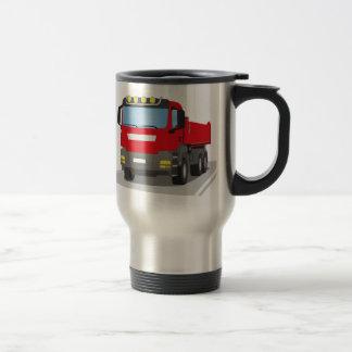red building sites truck travel mug