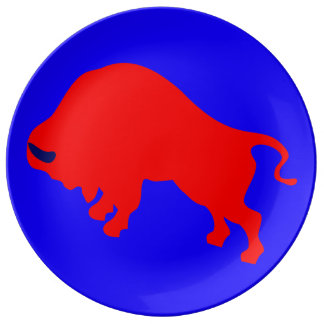 """Red Bull 10.75"""" Decorative Porcelain Plate"""