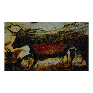Red Bull of Lascaux Poster