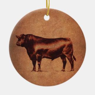 Red Bull Stock Stockman Ceramic Ornament