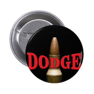 red bullet dodge spiral 6 cm round badge