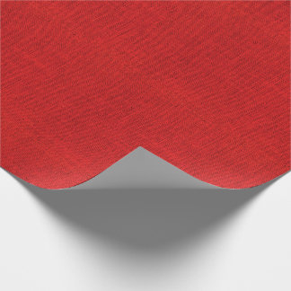 Red Burlap Texture Wrapping Paper