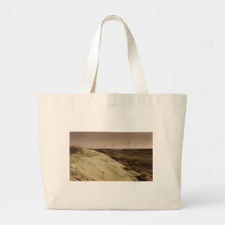 Red burn - the Outer Banks, NC. Large Tote Bag