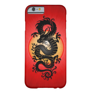 Red Burst Chinese Dragon Barely There iPhone 6 Case
