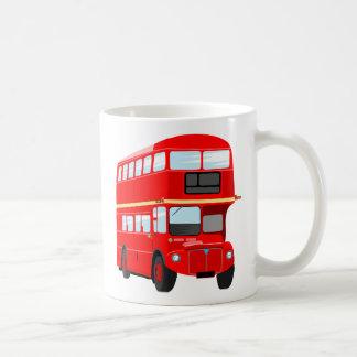 Red Bus Basic White Mug