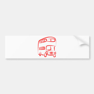 Red Bus Bumper Sticker