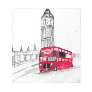 Red bus London Notepad