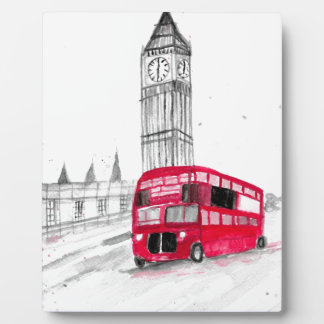 Red bus London Plaque