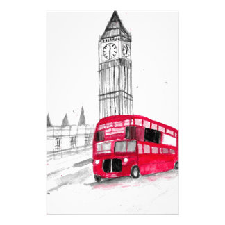 Red bus London Stationery