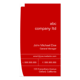 Red Business Consultant Card Business Cards