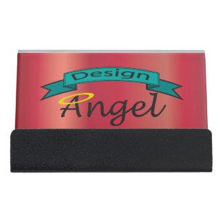 Red Business Logo Branded Card Holder