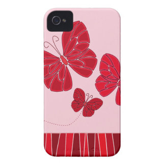 Red butterflies BlackBerry Bold Case