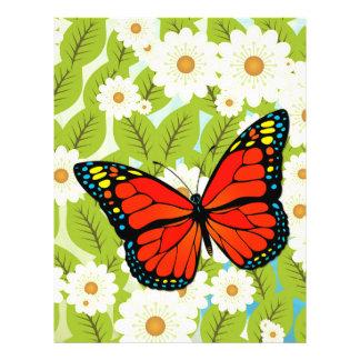 Red butterfly 21.5 cm x 28 cm flyer