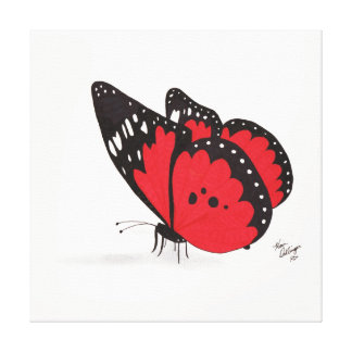 Red Butterfly (Canvas Print)