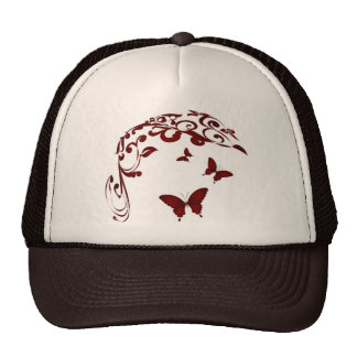 Red Butterfly Cap