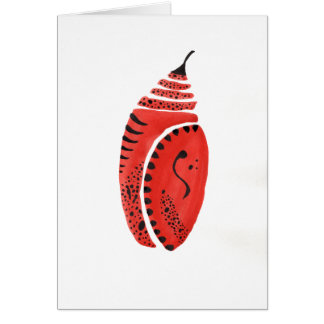Red Butterfly Cocoon Card