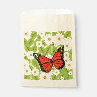 Red butterfly favour bags
