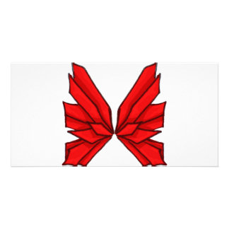 Red Butterfly III Photo Greeting Card