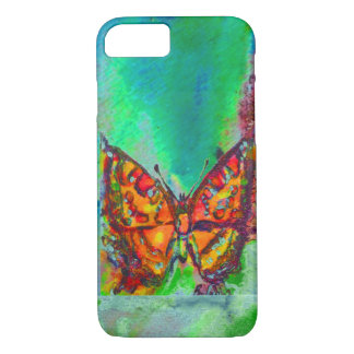 RED BUTTERFLY IN GREEN iPhone 7 CASE