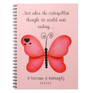 Red Butterfly Notebook