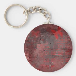 RED BUTTERFLY ON RAKU KEY RING