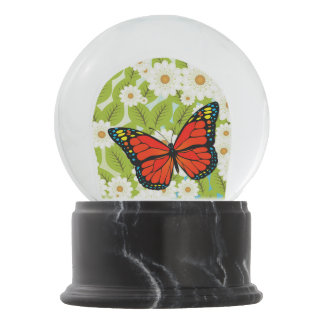 Red butterfly snow globes