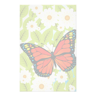 Red butterfly stationery