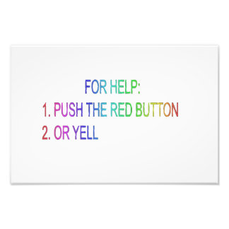 Red button photo print