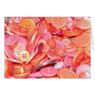 Red Buttons Note Card