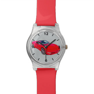 Red C5 Corvette convertible Muscle Car Watch