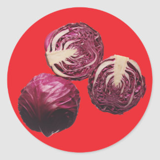 Red Cabbage Classic Round Sticker