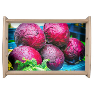 Red Cabbages Small Serving Tray