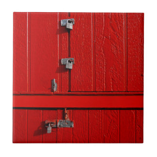 Red Cabinet Ceramic Tile