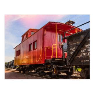 Red Caboose On The Go Postcard