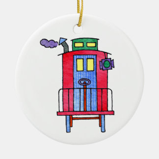 Red Caboose Ornament