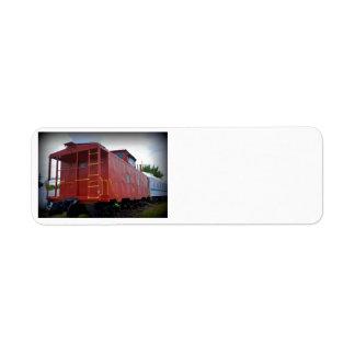 Red Caboose Return Address Label