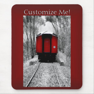 Red Caboose Vintage Victorian Steam Train Mouse Pad