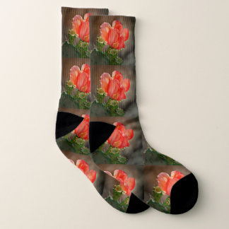 Red Cactus Bloom Socks 1