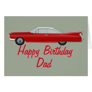 Red Cadillac Birthday Card