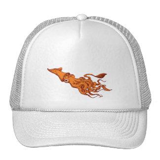 RED CALAMARI TRUCKER HATS