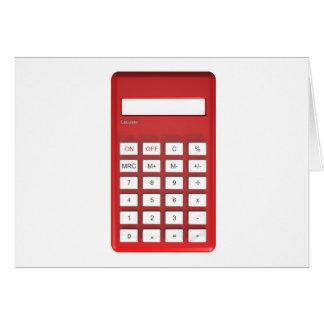 Red calculator calculator card