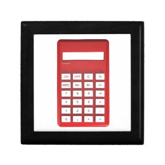 Red calculator calculator gift box