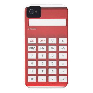 Red calculator calculator iPhone 4 cover