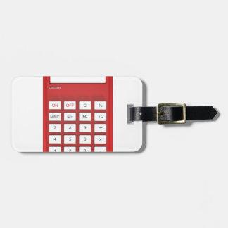 Red calculator calculator luggage tag