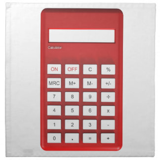 Red calculator calculator napkin