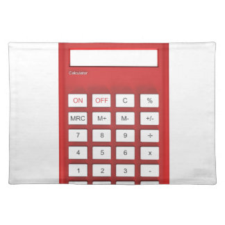 Red calculator calculator placemat