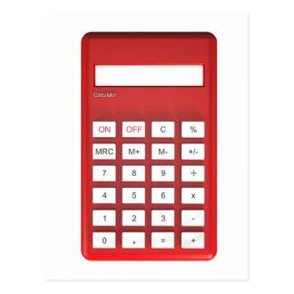 Red calculator calculator postcard