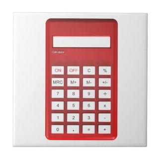 Red calculator calculator tile