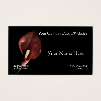 Red Calla Business Card